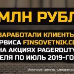 Более 5 миллионов рублей заработали клиенты нашего сервиса на акциях PagerDuty)